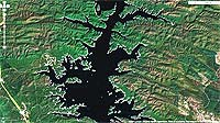 Lake Broken Bow Oklahoma map.