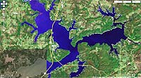 Lake Eufaula Oklahoma map, Hickory boat ramp off Adamson Road.