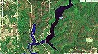Lake Greenleaf Oklahoma map