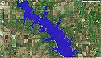 Lake Waurika Oklahoma map