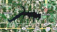 Lake Wes Watkins Oklahoma map